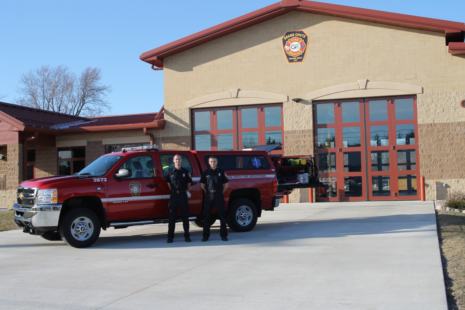 GCFD EMS ARV in Front of Station Two