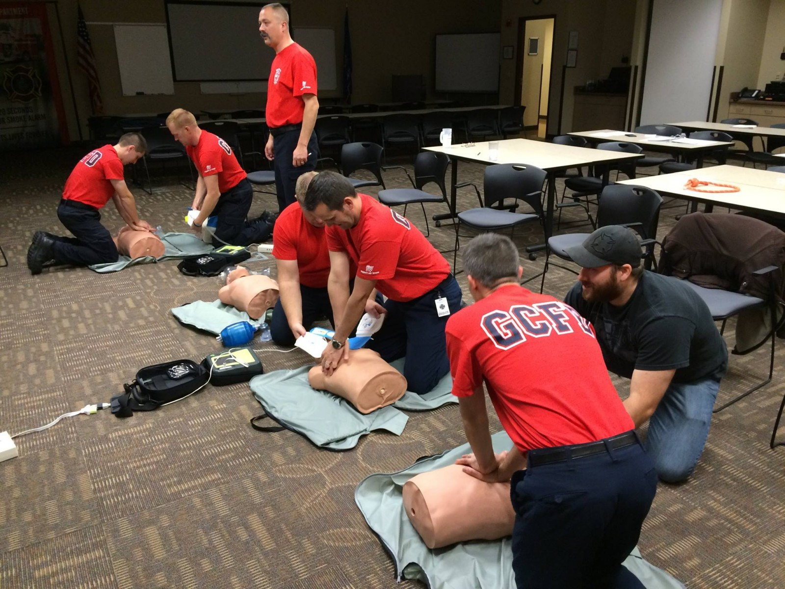 GCFD Firefighters in CPR Class