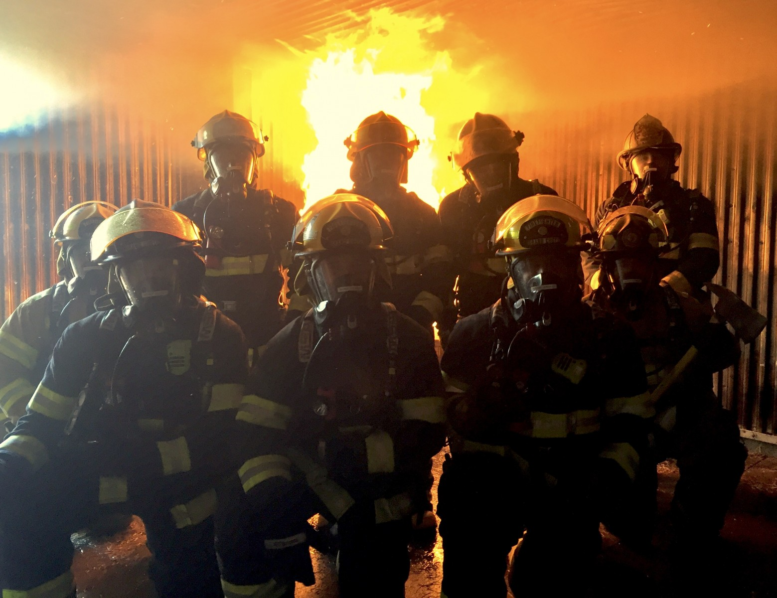 GCFD Recruits In Live Fire Training
