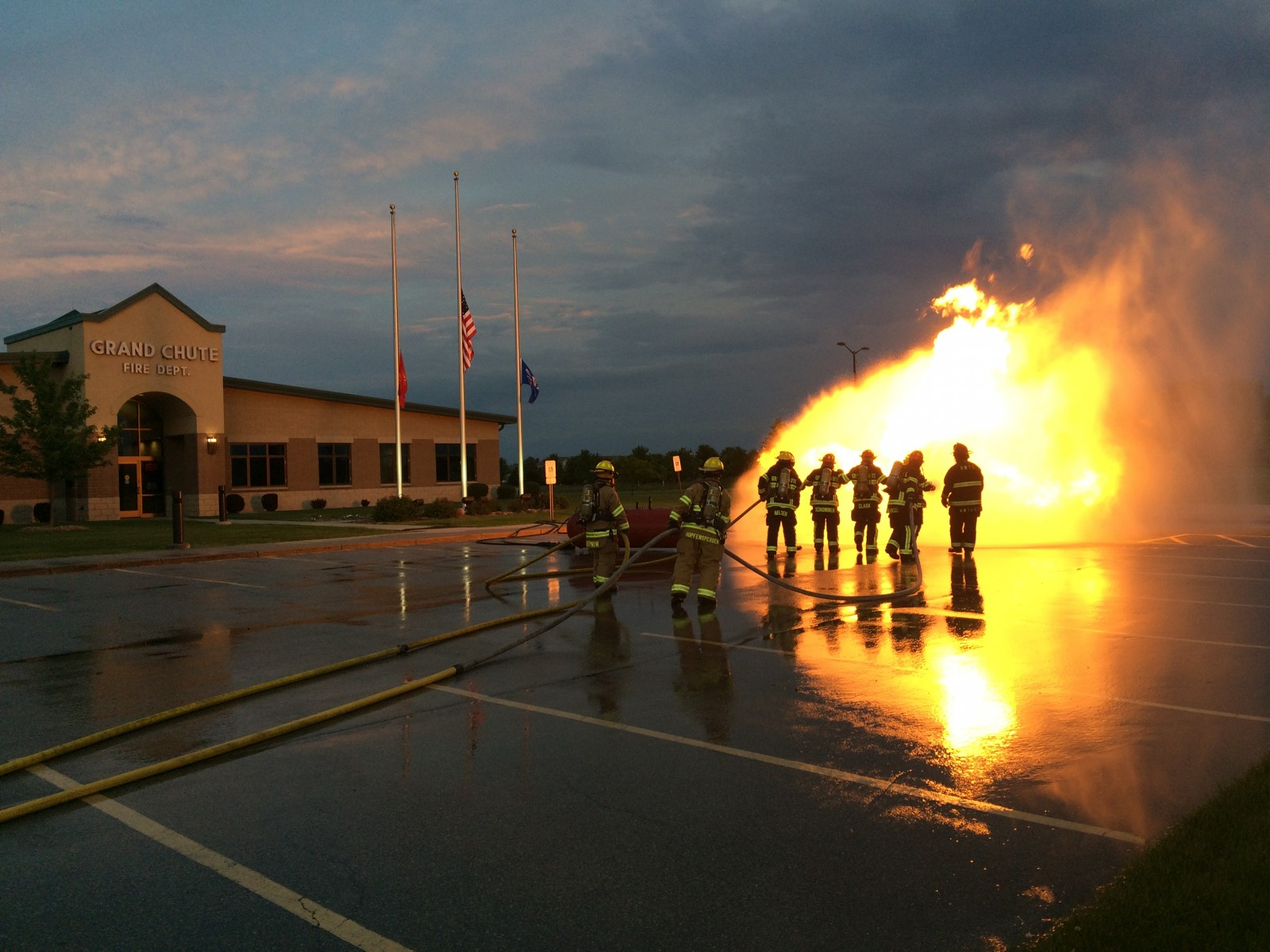 GCFD Firefighters Conducting LPG Live Fire Training
