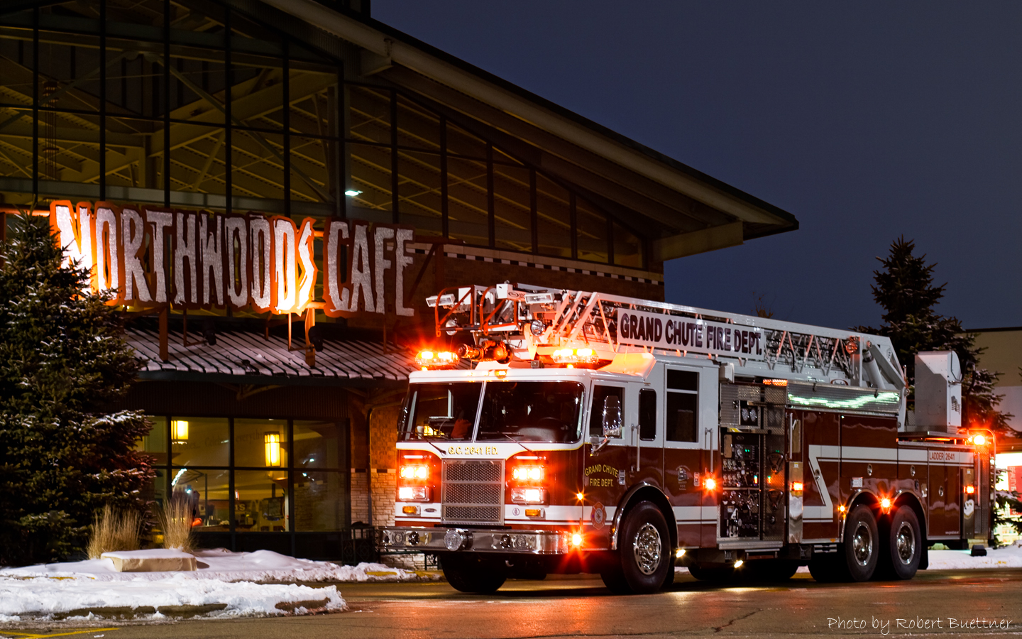 Ladder 2641 In Front of Northwoods Cafe