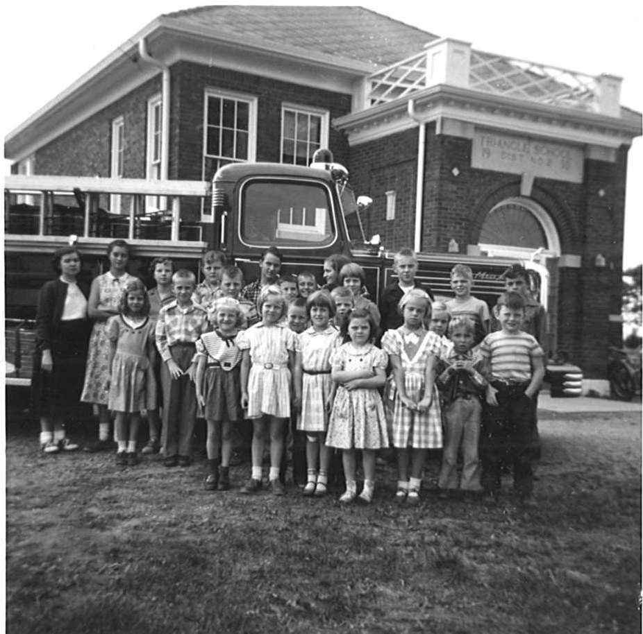 Children in Front of Historical GCFD Fire Truck