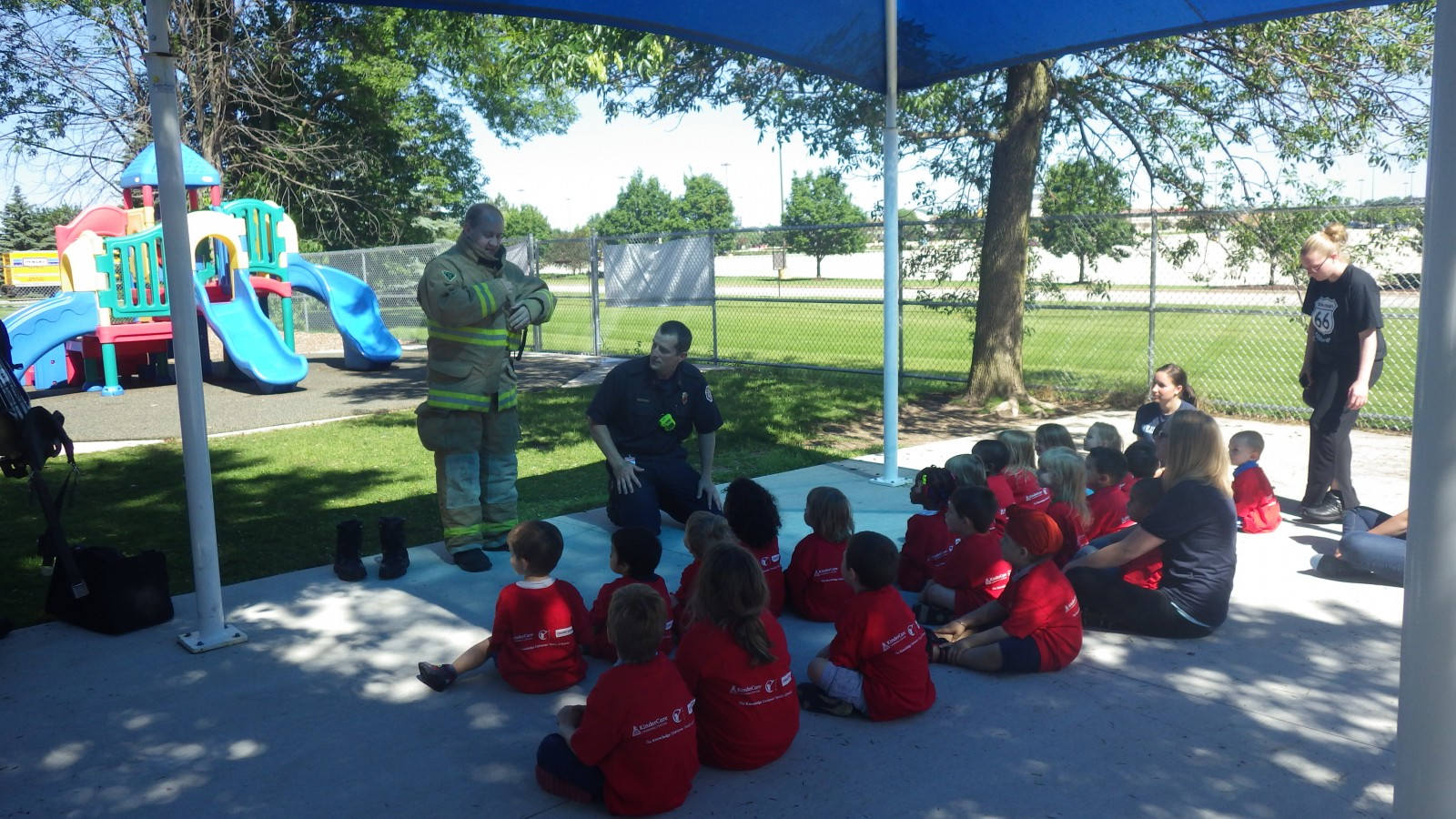 GCFD Conducting Public Education at a Daycare Center